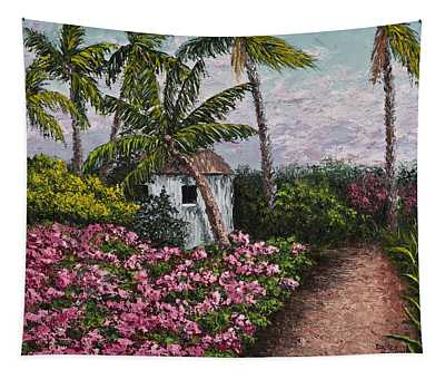 Tapestry featuring the painting Kauai Flower Garden by Darice Machel McGuire