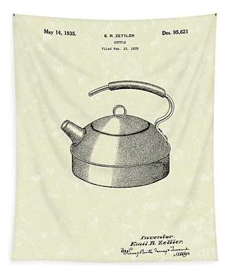 Kettle 1935 Patent Art Tapestry