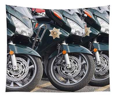 King County Police Motorcycle Tapestry
