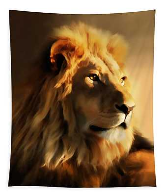 King Lion Of Africa Tapestry