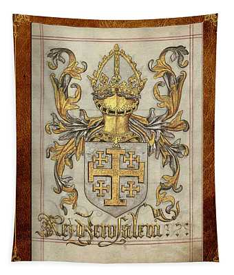 Kingdom Of Jerusalem Medieval Coat Of Arms  Tapestry