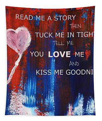 Kiss Me Goodnight Tapestry