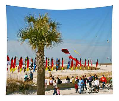 Kite Day At St. Pete Beach Tapestry