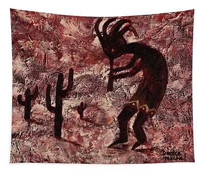 Tapestry featuring the painting Kokopelli by Darice Machel McGuire