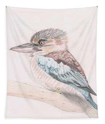Kookaburra Cuteness Tapestry