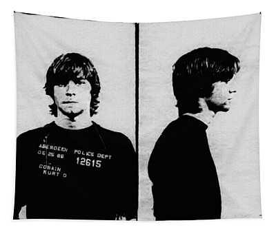 Kurt Cobain Mugshot Tapestry