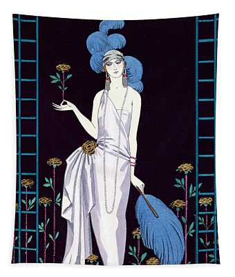 'la Roseraie' Fashion Design For An Evening Dress By The House Of Worth Tapestry