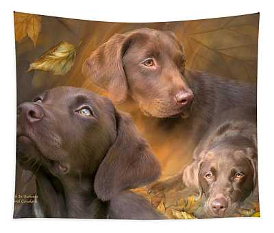 Lab In Autumn Tapestry