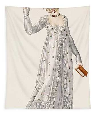 Ladies Evening Dress, Fashion Plate Tapestry