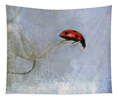 Lady In Red Tapestry