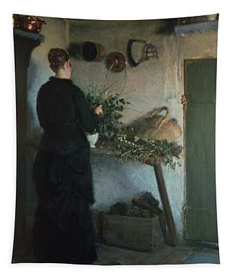 Lady In The Kitchen Tapestry
