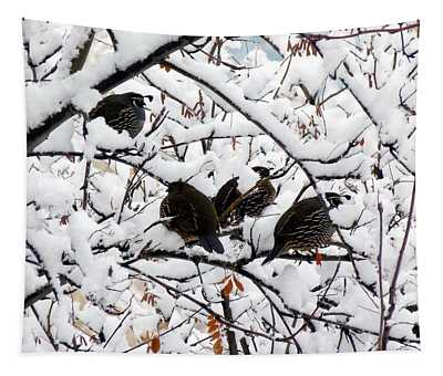 Lake Country Quail Tapestry