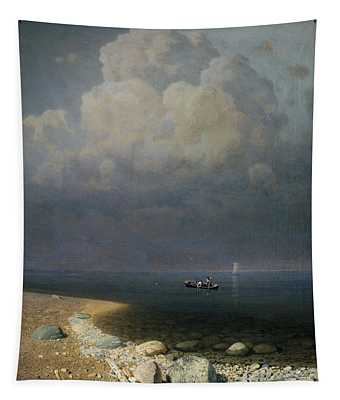 Lake Ladoga, 1873 Oil On Canvas Tapestry