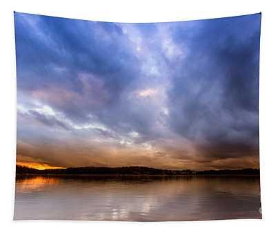 Lake Lanier Sunset Tapestry