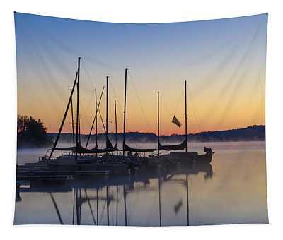 Lake Nockamixon Marina At Sunrise Tapestry