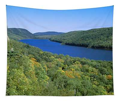 Lake Of The Clouds In Porcupine Tapestry