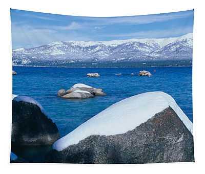 Lake Tahoe In Winter, California Tapestry