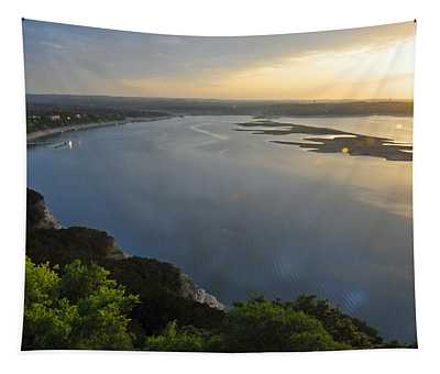 Lake Travis Sunset Tapestry