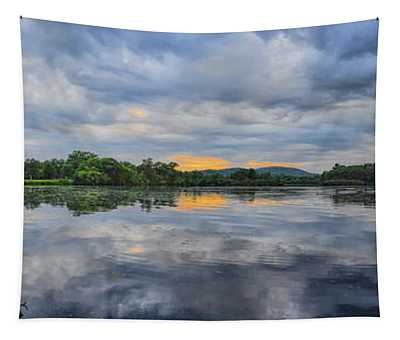 Lake Wausau Summer Sunset Panoramic Tapestry