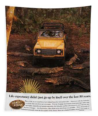 Land Rover Defender 90 Ad Tapestry