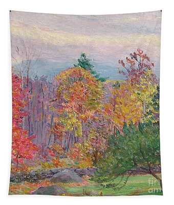 Landscape At Hancock In New Hampshire Tapestry