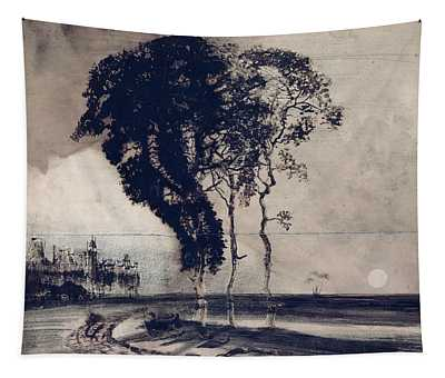 Landscape With Three Trees Tapestry