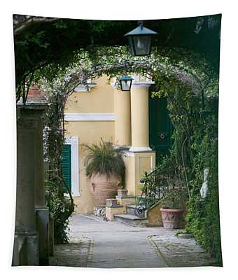 Lanterns Hanging In A Garden, Capri Tapestry