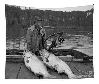 Large King Salmon Moss Landing Monterey California  Circa 1955 Tapestry