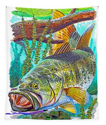 Largemouth Bass Tapestry