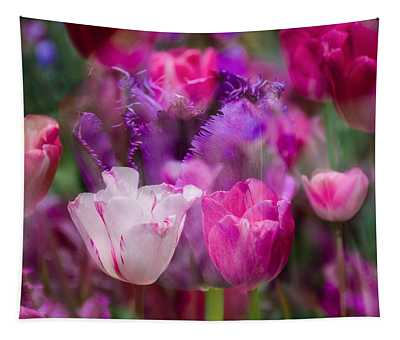 Layers Of Tulips Tapestry