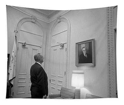 Lbj Looking At Fdr Tapestry