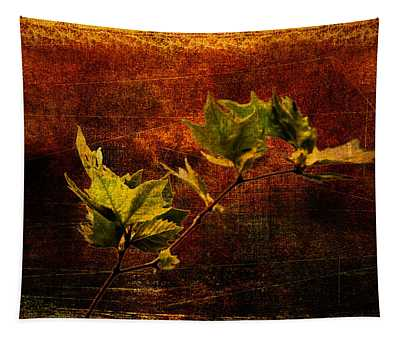 Leaves On Texture Tapestry