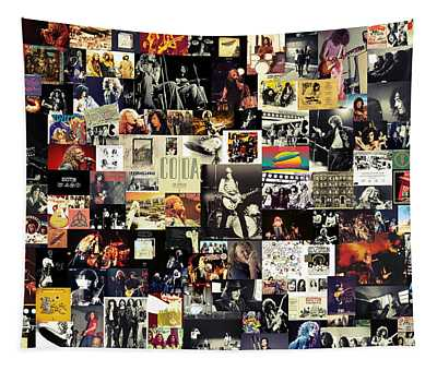 Led Zeppelin Collage Tapestry