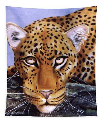 Leopard In A Tree Tapestry