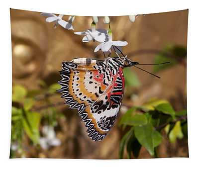 Leopard Lacewing Butterfly Dthu619 Tapestry