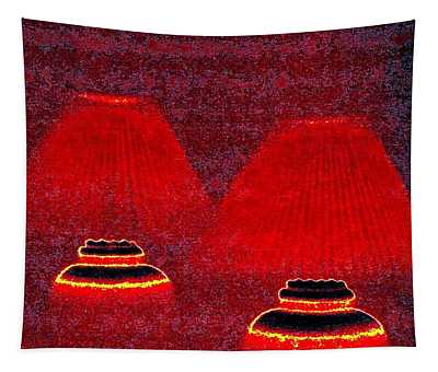 Les Lampes Rouges Tapestry