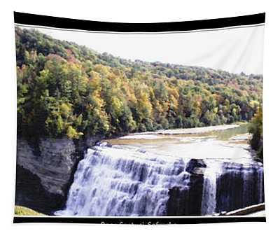 Letchworth State Park Middle Falls Panorama Tapestry