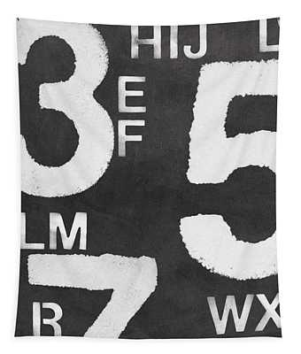 Letters And Numbers Tapestry