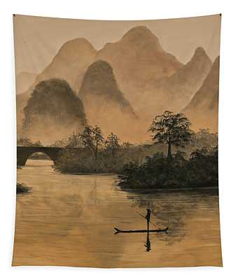 Li River China Tapestry