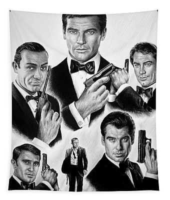 Licence To Kill  Bw Tapestry