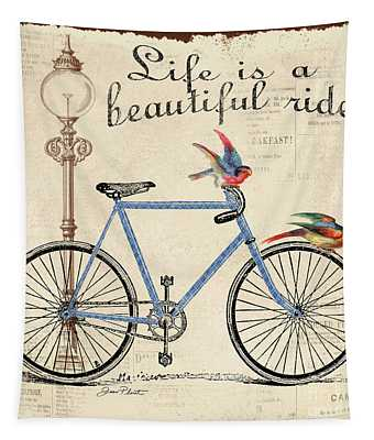 Life Is A Beautiful Ride Tapestry