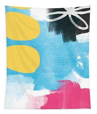 Life Is A Celebration-abstract Art Tapestry