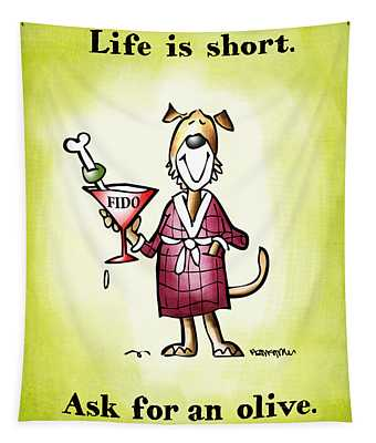 Life Is Short Tapestry