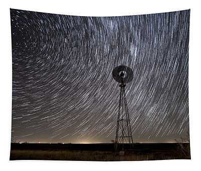 Life Stands Stilll In Rural West Texas Tapestry