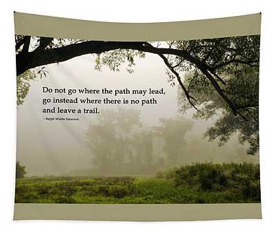 Life's Path Inspirational Art Tapestry