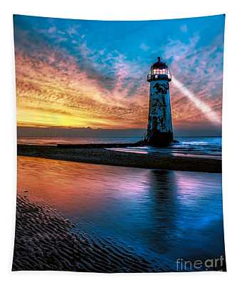 Light House Sunset Tapestry