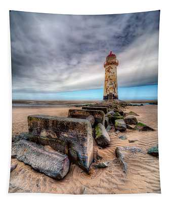 Lighthouse At Talacre  Tapestry