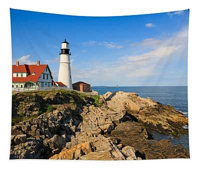 Lighthouse In The Sun Tapestry