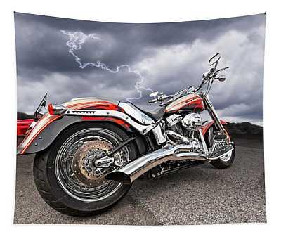 Lightning Fast - Screamin' Eagle Harley Tapestry