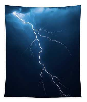 Lightning With Cloudscape Tapestry